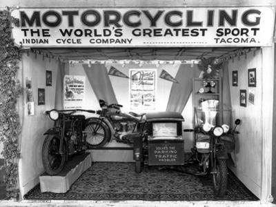 Indian Cycle Co. Booth at Puyallup Fair, 1927