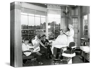 Lakewood Barber Shop, 1940 by Chapin Bowen