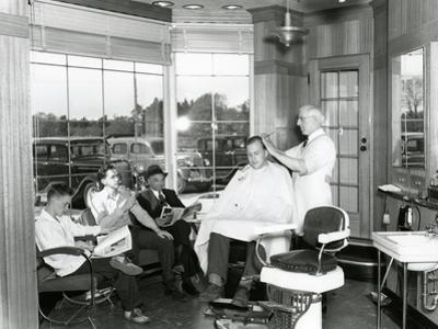 Lakewood Barber Shop, 1940