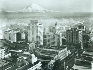 Tacoma Downtown Business District, 1930 by Chapin Bowen