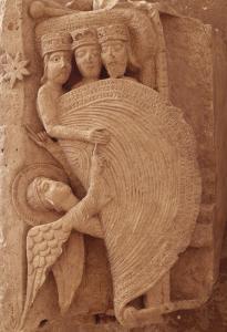 Chapiteau historié de la cathédrale Saint-Lazare d'Autun; Réveil des mages