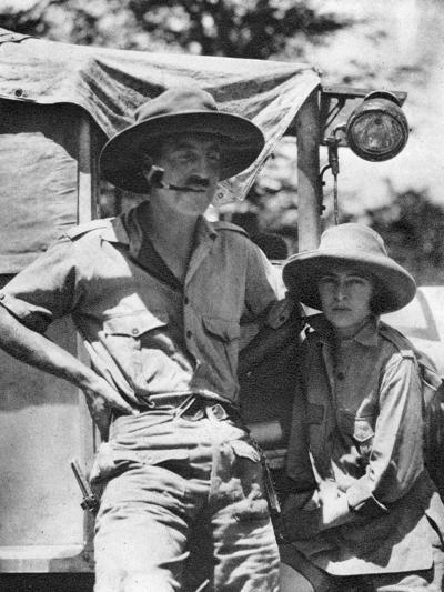 Chaplin Court Treatt and Stella Court Treatt, British Motoring Pioneers, C1924-C1926-Thomas A Glover-Giclee Print