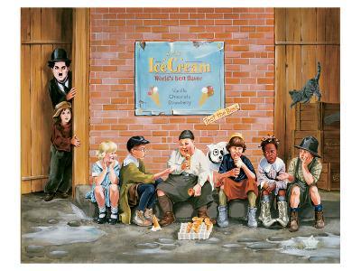 Chaplin Kid Alley Ice Cream-Renate Holzner-Art Print