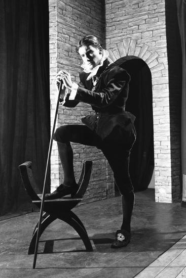 Character from a Production of Shakespeares Twelfth Night, Worksop College, Derbyshire, 1960-Michael Walters-Photographic Print