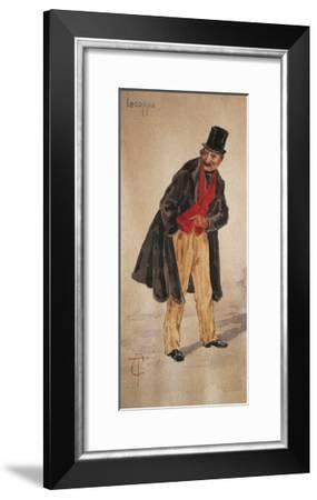 Character of Tecoppa Created by Milanese Actor Edoardo Ferravilla in 1874-Tranquillo Cremona-Framed Giclee Print