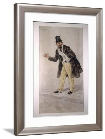 Character of Tecoppacreated by Milanese Actor Edoardo Ferravilla in 1874-Tranquillo Cremona-Framed Giclee Print