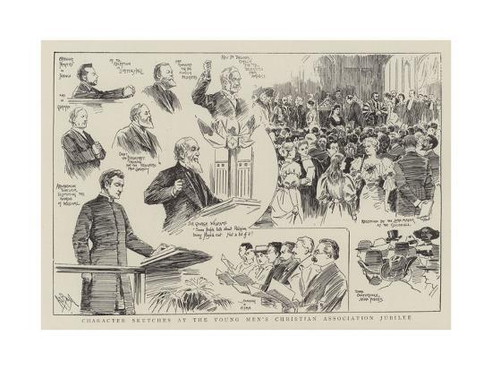Character Sketches at the Young Men's Christian Association Jubilee--Giclee Print