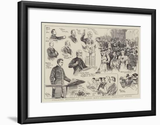 Character Sketches at the Young Men's Christian Association Jubilee--Framed Giclee Print