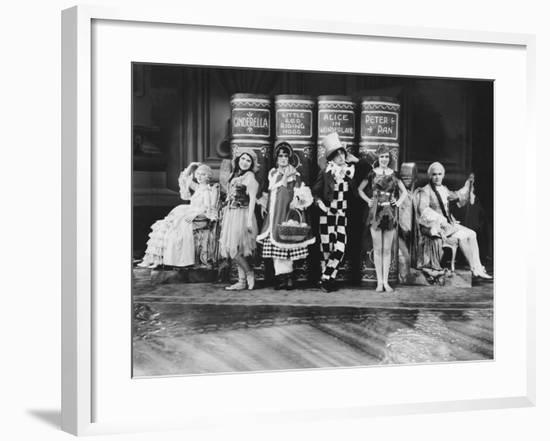 Characters from Childrens Stories Posing with their Books--Framed Photo