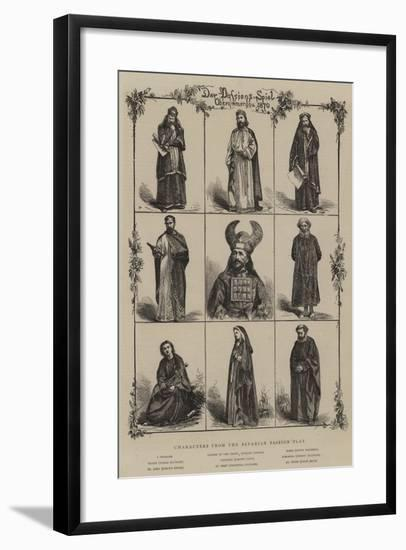 Characters from the Bavarian Passion Play--Framed Giclee Print