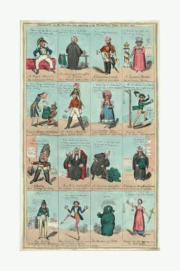 Characters in the New Piece Now Poforming at the Theatre Royal Cotten Garden 1820--Giclee Print