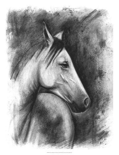 Charcoal Equestrian Portrait I-Naomi McCavitt-Giclee Print