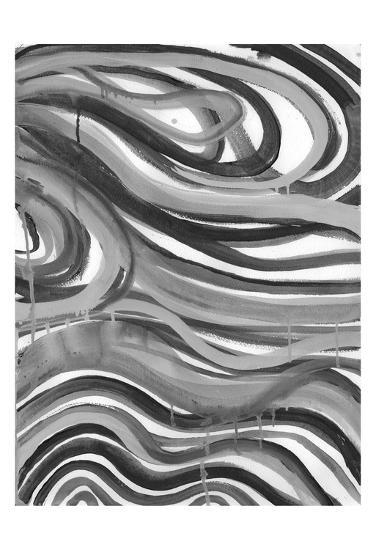 Charcoal Ripples 1-Smith Haynes-Art Print
