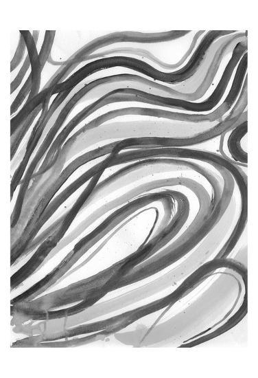 Charcoal Ripples 2-Smith Haynes-Art Print
