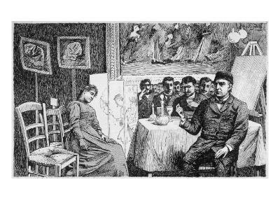 Charcot Gives a Demonstration at La Salpetriere, Paris--Giclee Print