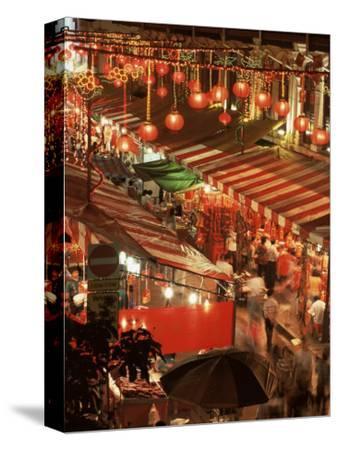 Lanterns and Stalls, Chinatown, Singapore, Southeast Asia