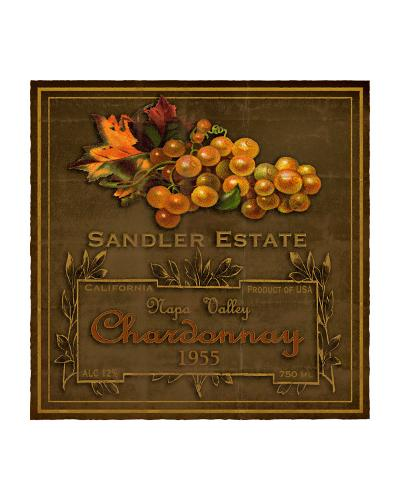 Chardonnay Wine Label--Giclee Print