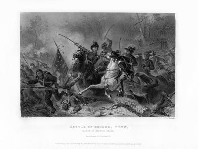 Charge of General Grant, Battle of Shiloh, Tennessee, April 1862, (1862-186)-W Ridgway-Giclee Print
