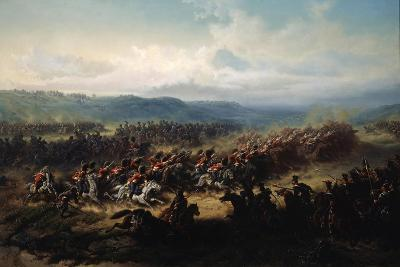 Charge of the English Light Brigade at the Battle of Balaclava on 25 October 1854, 19th Century-Friedrich Kaiser-Giclee Print