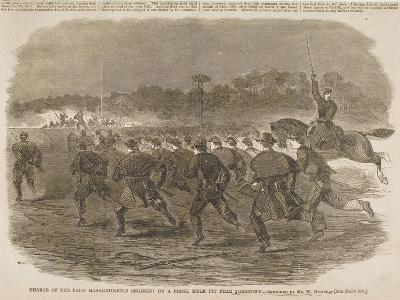 Charge of the First Massachusetts Regiment on a Rebel Rifle Pit Near Yorktown-Winslow Homer-Giclee Print