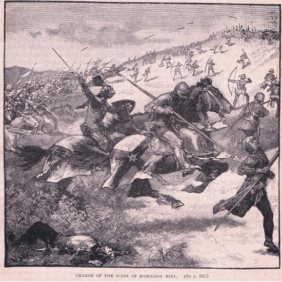 Charge of the Scots at Homildon Hill Ad 1402-Walter Paget-Giclee Print