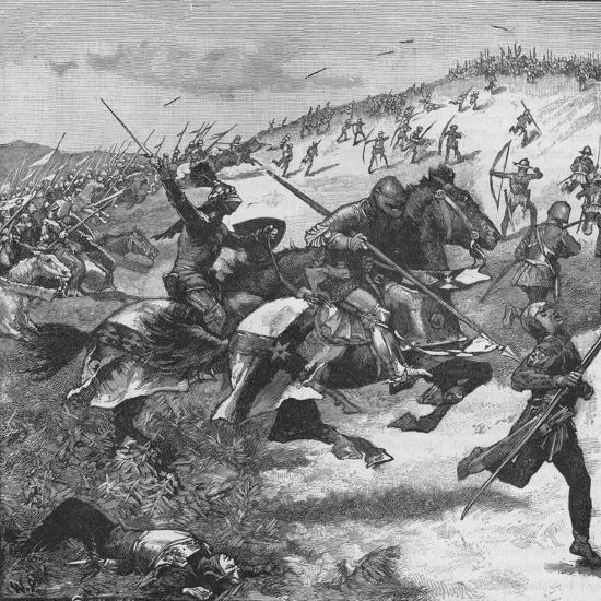 Charge of the Scots at the Battle of Homildon Hill, Northumberland, 1402--Giclee Print