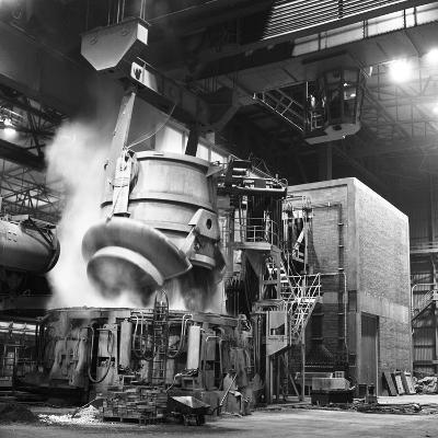 Charging a Furnace, Park Gate Iron and Steel Co, Rotherham, South Yorkshire, 1964-Michael Walters-Photographic Print