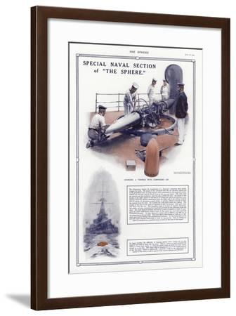 Charging a Torpedo with Compressed Air-Addison Thomas Millar-Framed Giclee Print