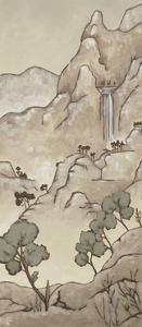 Chinoiserie Landscape I by Chariklia Zarris