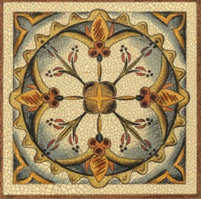 Crackled Cloisonne Tile III