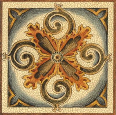 Crackled Cloisonne Tile VI
