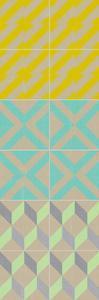 Elementary Tile Panel III by Chariklia Zarris