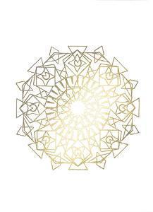 Gold Foil Mandala I by Chariklia Zarris