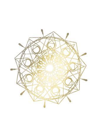 Gold Foil Mandala II by Chariklia Zarris