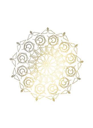 Gold Foil Mandala III by Chariklia Zarris