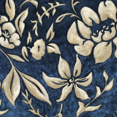 Indigo and Cream Brocade II by Chariklia Zarris