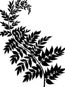 Leaf Silhouette III by Chariklia Zarris