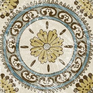 Non-Embellished Batik Square VIII by Chariklia Zarris