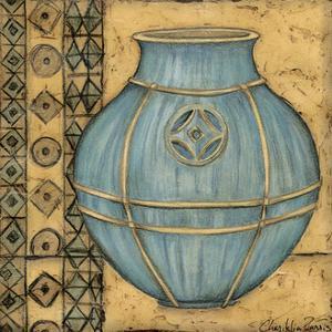 Square Cerulean Pottery I by Chariklia Zarris
