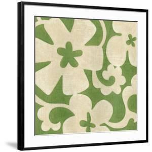 Suzani Silhouette in Green I by Chariklia Zarris