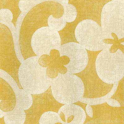 Suzani Silhouette in Yellow I