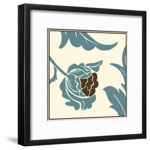 Teal Floral Motif I by Chariklia Zarris