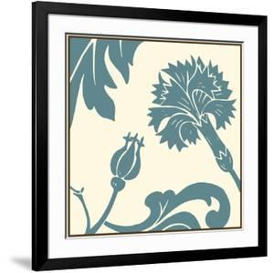 Teal Floral Motif II by Chariklia Zarris