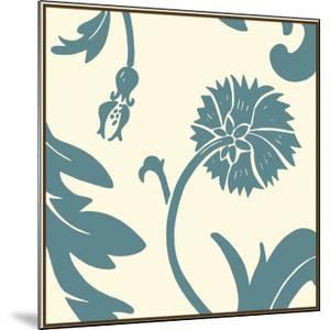 Teal Floral Motif III by Chariklia Zarris