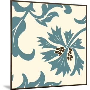 Teal Floral Motif IV by Chariklia Zarris