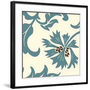Teal Floral Motif IV by Chariklia Zarris