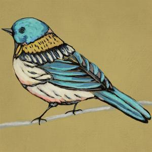 Winged Sketch III on Ochre by Chariklia Zarris