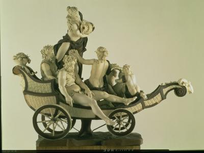 Chariot with Silenus, Ivory Sculpture, Munich, Second Quarter of the 18th Century-Simon Troger-Giclee Print