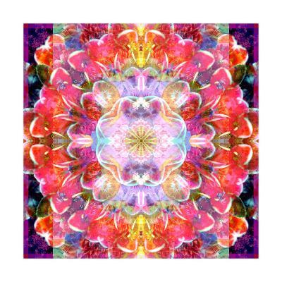 Charismatic Orchid Mandala-Alaya Gadeh-Art Print
