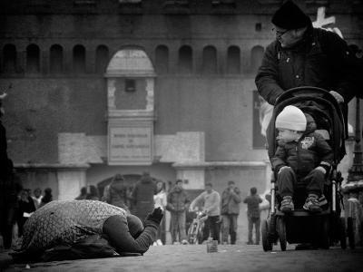 Charity and Curiosity...-Antonio Grambone-Photographic Print